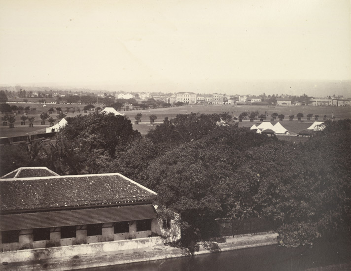 General view of The Esplanade, Bombay.